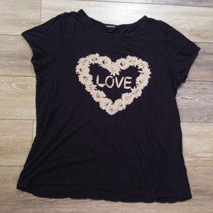 Torrid love heart t shirt